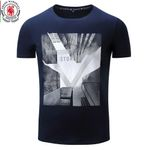 FREDD MARSHALL New Arrival Men T-shirt Men's Short Sleeve Tee Mens 3D City Printing 100% Cotton Flexible Tops Plus size 307