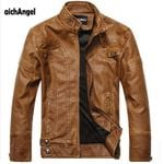 Leather Jackets Men Autumn Winter Leather Clothing Men Leather Jackets Male Business casual Coats