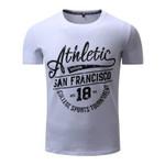 FREDD MARSHALL New Arrival Men T-shirt Men's Short Sleeve Tee Mens Letter Printing 100% Cotton Flexible Tops Plus size 308