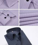 Spring New Striped Dress Shirt Formal Fashion Long Sleeve