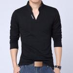 Men Shirt Mens Long Sleeve Solid Polo Shirts Camisa Polos Casual cotton Tops Tees