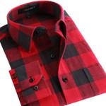 Men Flannel Plaid Shirt 100% Cotton Spring Autumn Casual Long Sleeve Shirt Soft Comfort Slim Fit Styles Man Clothes
