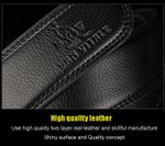 Men's fashion Accessories belts hight quality real leather automatic buckles black waistband for male