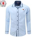Men's Shirt  2016 New Arrive Spring Men Shirt  Fashion Casual Shirt  Long Sleeve Mens Dress Shirts 100% Cotton Plus Size 084