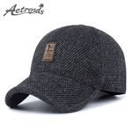 Woolen Knitted Design Winter Baseball Cap Men Thicken Warm Hats with Ear flaps