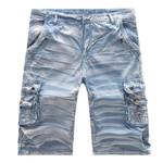Casual Multi-Pocket Knee Length Short