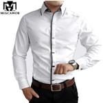New Spring Autumn Cotton Dress Shirts High Quality Mens Casual Shirt,Casual Men Slim Fit Social Shirts