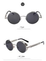 Round Steampunk Fashion Sunglasses
