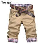 Shorts Men's Fashion Summer Wear Shorts Male Casual Solid Comfortable Shorts 10 Colors No Belt