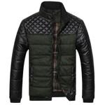 New Classic Men Fashion Warm Jackets Patchwork Plaid Design Young Man Winter Coats