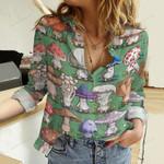 Cute Mushrooms Cotton And Linen Casual Shirt QA261012