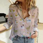 Llama Cotton And Linen Casual Shirt QA261020