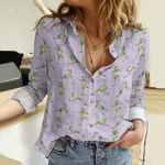 Yoga Frogs Cotton And Linen Casual Shirt QA271006