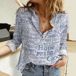 Love Faith Hope Cotton And Linen Casual Shirt QA281009