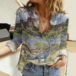 Dinosaurs Cotton And Linen Casual Shirt QA281015