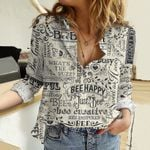 Bee Happy - Bee Cotton And Linen Casual Shirt KH281006