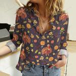 Turkey Bird Cotton And Linen Casual Shirt QA291008