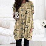 Honeycomb - Bee Pocket Long Top Women Blouse KH291013