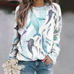 Marine Life - Sharks And Whales Unisex All Over Print Cotton Sweatshirt QA181203