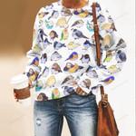 Cute Birds Unisex All Over Print Cotton Sweatshirt QA200109