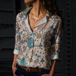 Hedgehog - Woodland Animals Cotton And Linen Casual Shirt KH210102