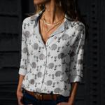 Hedgehog - Woodland Animals Cotton And Linen Casual Shirt KH210105