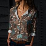 Hedgehog - Woodland Animals Cotton And Linen Casual Shirt KH210117