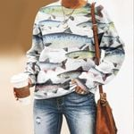 Northern Pike, White Fish - Fishes Unisex All Over Print Cotton Sweatshirt KH210119