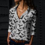 Bats Cotton And Linen Casual Shirt QA220104