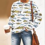 Fish Species Unisex All Over Print Cotton Sweatshirt QA250103