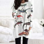Asian Salamander, Fire Salamander - Lizard - Reptile Pocket Long Top Women Blouse KH250112