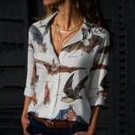 Fish-eating Bat - Big Brown Bat - Bats - Cotton And Linen Casual Shirt KH250116