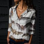 American False Vampire Bat - Bats - Cotton And Linen Casual Shirt KH250119
