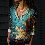 Mermaid Cotton And Linen Casual Shirt CH260101