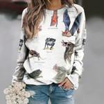 Fisherman Bat - Vampire Bat - Bats Unisex All Over Print Cotton Sweatshirt KH250115