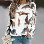 Fish-eating Bat - Big Brown Bat - Bats Unisex All Over Print Cotton Sweatshirt KH250116