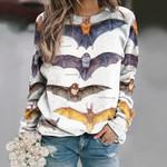 Eastern Smoky Bat - Bats Unisex All Over Print Cotton Sweatshirt KH250117