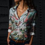 Birds Cotton And Linen Casual Shirt CH260111