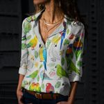 Tropical Parrots Cotton And Linen Casual Shirt QA260105