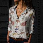 Mushrooms Cotton And Linen Casual Shirt QA260109