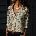 Mushroom Species Cotton And Linen Casual Shirt QA260108