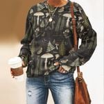 Woodland Mushroom Unisex All Over Print Cotton Sweatshirt QA260101