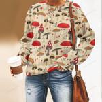 Mushrooms Unisex All Over Print Cotton Sweatshirt QA260104