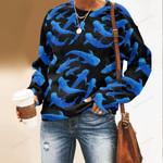 Whales In Night Unisex All Over Print Cotton Sweatshirt QA260106