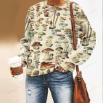 Mushroom Species Unisex All Over Print Cotton Sweatshirt QA260108