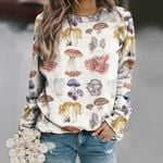 Mushrooms Unisex All Over Print Cotton Sweatshirt QA260109