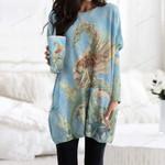 Seahorse Pocket Long Top Women Blouse CH260105