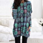 Hippie Pocket Long Top Women Blouse CH260110