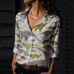 Dinosaurs Cotton And Linen Casual Shirt QA260111