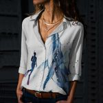 Scuba - Whale Cotton And Linen Casual Shirt KH260105